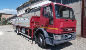 Camion Iveco Eurocargo rosso usato_manara camion bagnara di romagna ravenna